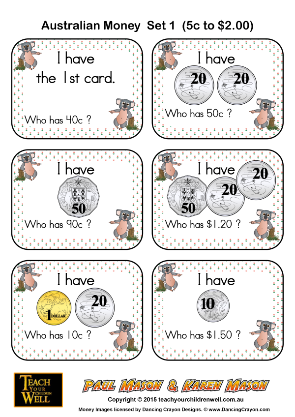 Money Maths Worksheets Australia money printable – Kindergarten Worksheets Australia